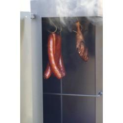 Smoker mit Backofen und Räucherkammer